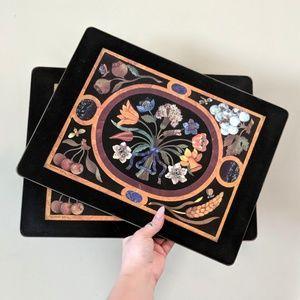 Vintage Floral Cork Board Placemat / Set of 2